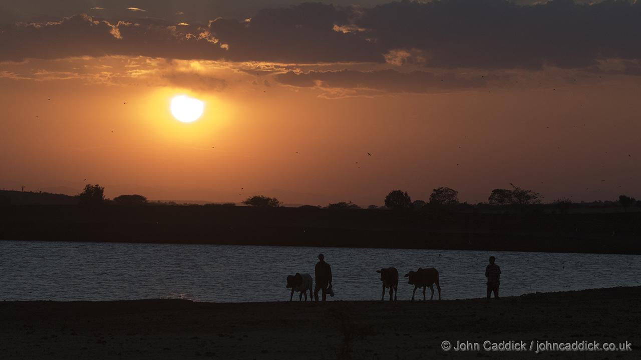 Sunset near Ngele, Ethiopia